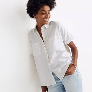 Madewell white cotton courier shirt XS